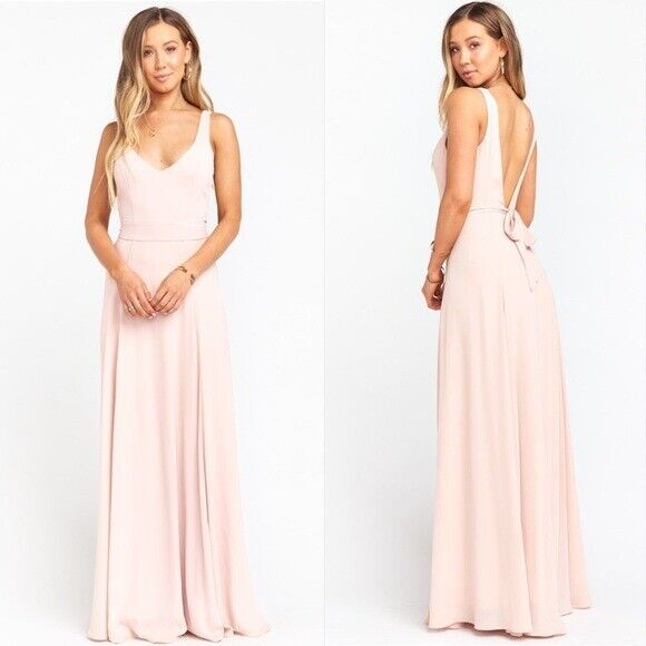 NWT Show Me Your Mumu Jenn Maxi Dress in Dusty Blush Crisp Size Small MSRP