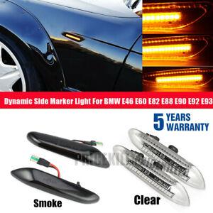 Dynamic-Flowing-LED-Side-Marker-Indicator-Light-For-BMW-E46-E60-E82-E90-E91-UK