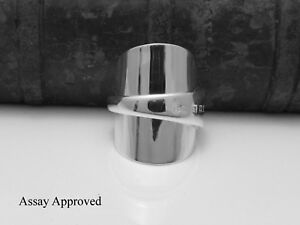 CHUNKY-SOLID-STERLING-SILVER-SPOON-RING-SIZE-P