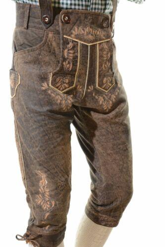 Bavarian Oktoberfest Lederhosen Antique Lamb Leather Tracht Bundhosen #HMBRG