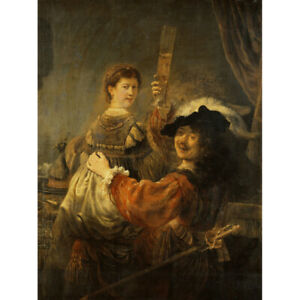 Rembrandt-amp-Saskia-In-The-Scene-Of-The-Prodigal-Son-Canvas-Art-Print-Poster