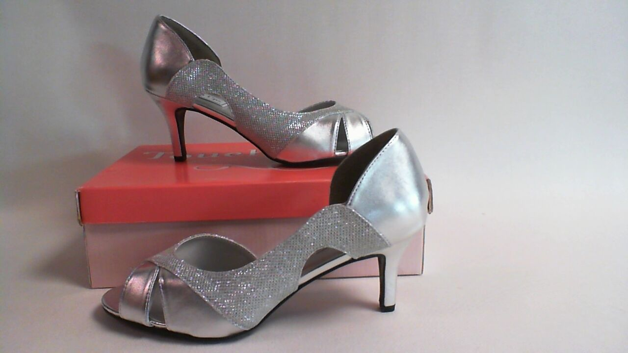 Touch Ups Wedding Shoes - Silver- Charlie - US 8.5W UK 6.5 #7E36