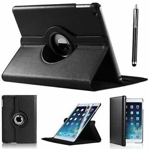 """iPad 360 Rotating Stand Case Cover for 2017 iPad 5th Generation 9.7""""- Model Black"""
