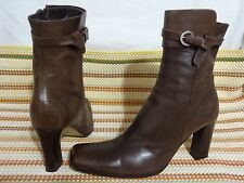 CHARLES DAVID woman boots SZ 37/6.5 M BROWN LEATHER ANKLE FASHION