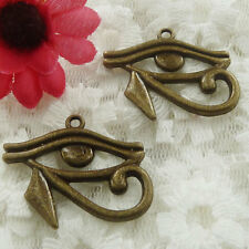 Free Ship 24 pieces bronze plated eyes pendant 31x26mm #591