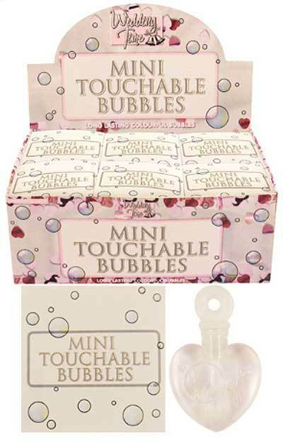 mini touchable bubbles HEARTS party bag WEDDING favours GIFT TABLE DECORATION