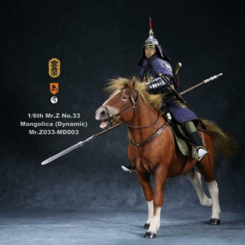 MR.Z Mongolica Horse Resin Figurine Statue 1//6 Scale Painted Steed Model PreSale