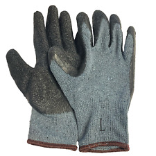 144 Pairs Knit Work Gloves Cotton Textured Rubber Latex Coated For Construction