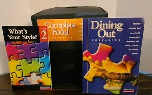 Set 2 Weight Watchers Winning Points COMPLETE FOOD DINING OUT COMPANION w/ case eBay