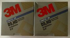 """SEALED 3M Double Density 3.5/"""" Diskettes DS DD Formatted Box 10ct"""