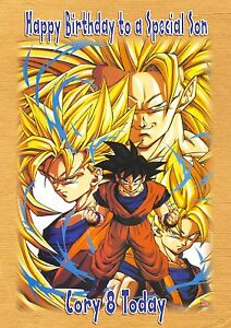 Image Is Loading Personalised Birthday Card Son Grandson Daughter Brother Dragonball