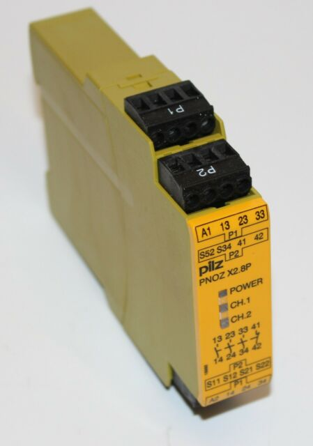 PILZ PNOZX2.8P 24VACDC Safety Relay