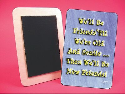 """sku# 4130 Fridge Magnet Funny Sign /""""5 Deadly Terms Used By/"""" Fun 4 x 5 Sign"""