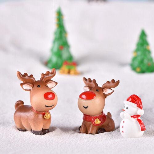 Resin Christmas Series DIY Miniature Figurine Xmas Garden Decor Micro Landsc lq