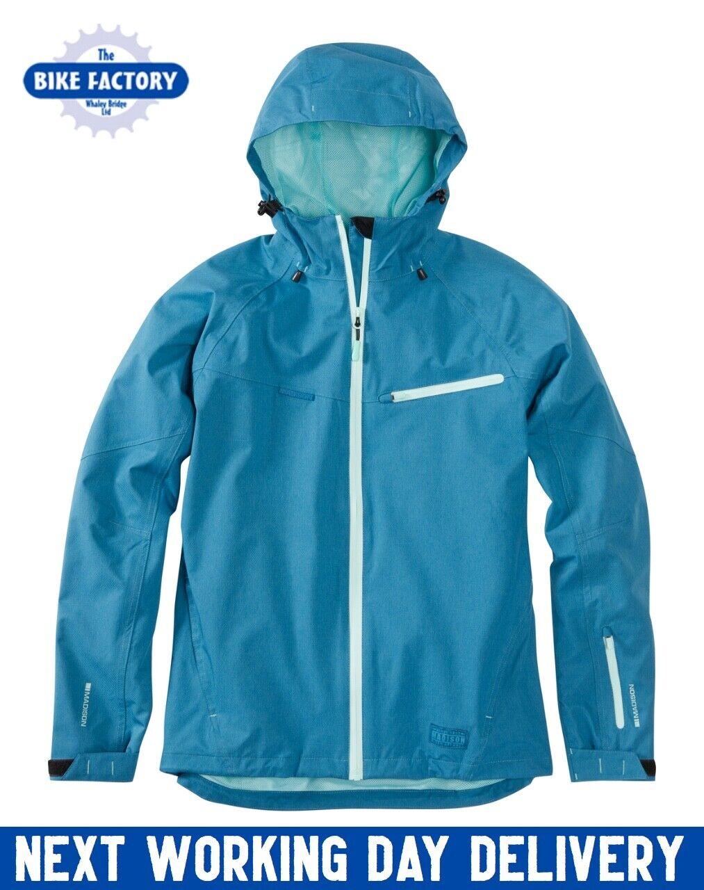 Madison – Leia damen's Waterproof Jacket – MTB – Blau – Größe 10