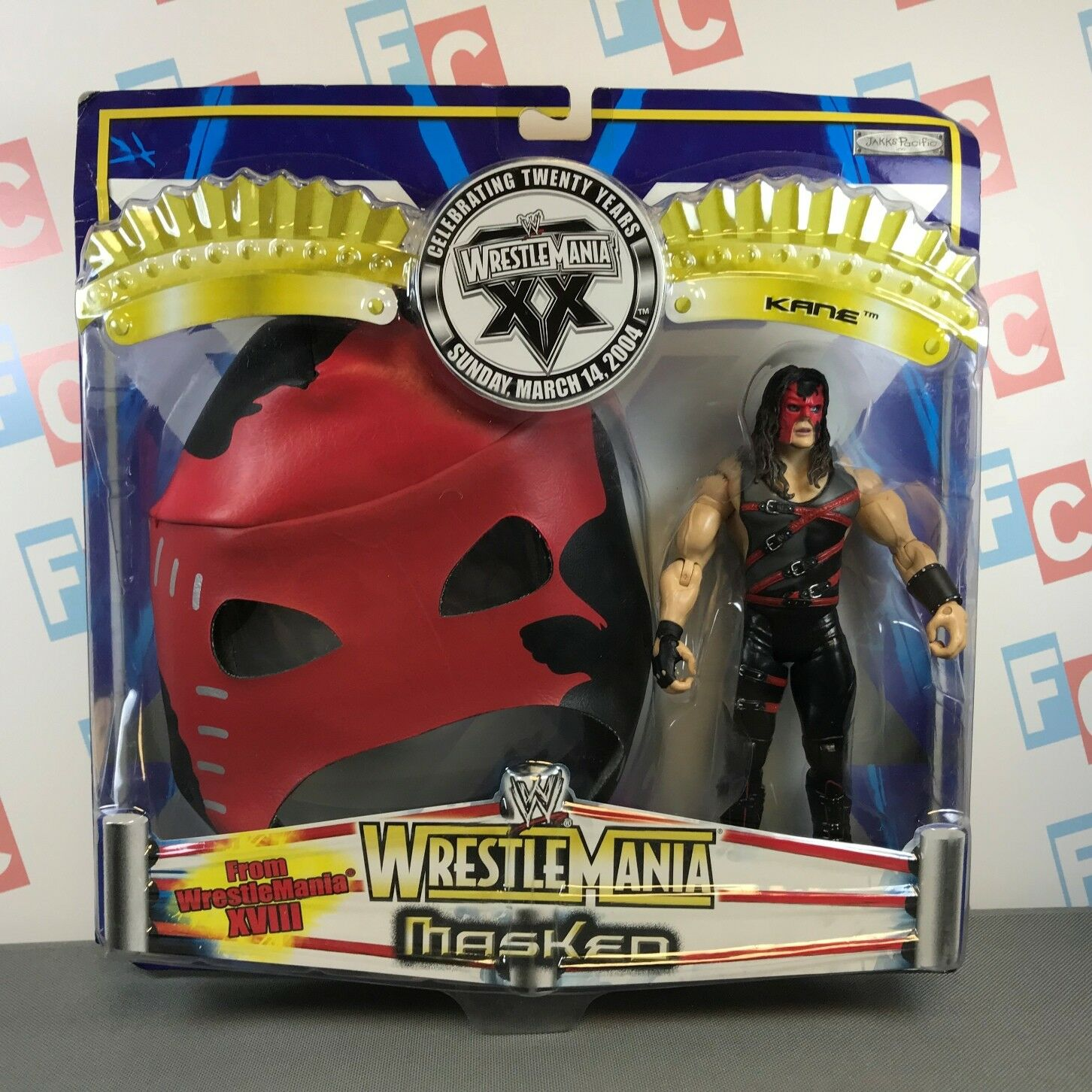 WWE Wrestling Jakks Ruthless Aggression Wrestlemania 20 Masked Kane Figure