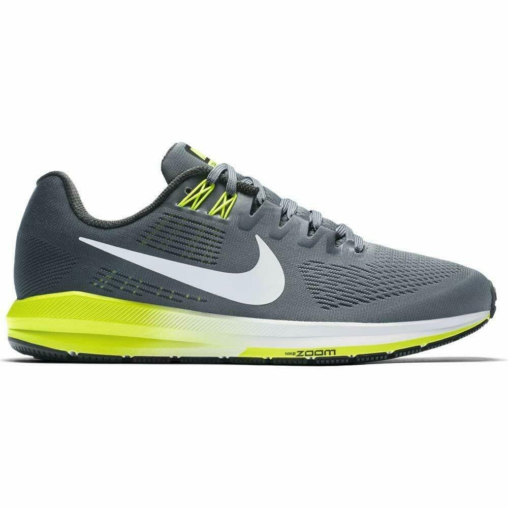 Nike Zoom Structure 21 Cool Grey White Volt 904697 007 Mens Size 11.5 Wide 4E