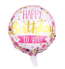 """Happy 3rd Birthday Girl Pink Prismatic Unique Foil Helium Balloon 18/"""" Quality"""