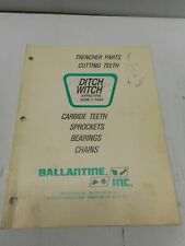Ditch Witch Trencher Replacement Parts Manual 1994