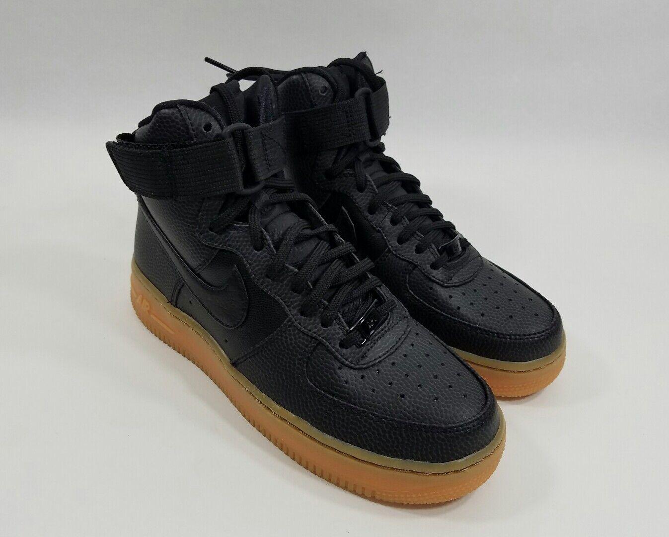 Nike air force 1 hi se 860544-002 860544-002 860544-002 nero grigio scuro gomma scarpe da donna nuova sz 6 245f37