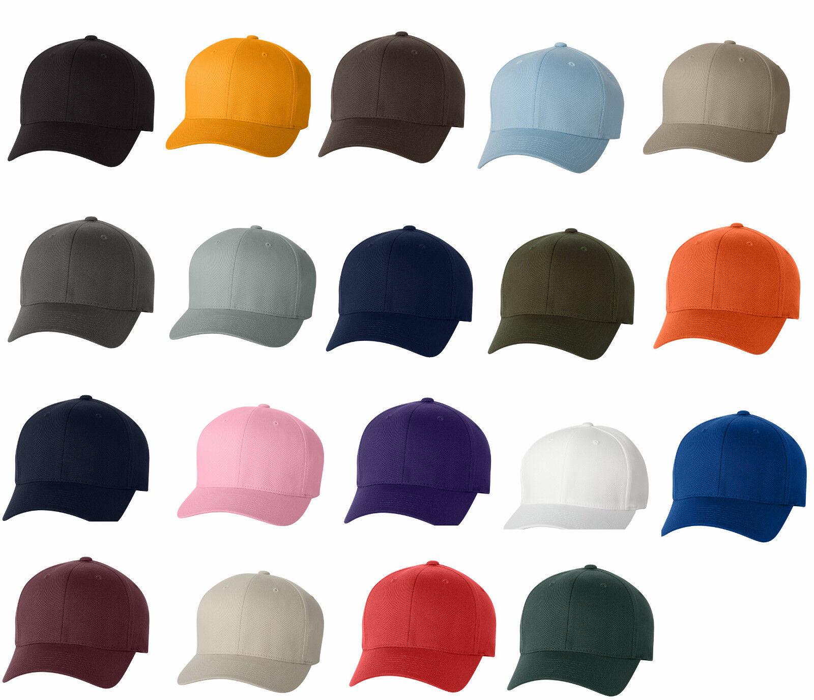 5847fe12929 Flexfit Structured Twill Fitted Cap Baseball Hat 6277 S M L XL XL 2XLNEW