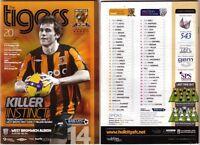 Hull City vs West Bromwich Albion League Fixture 2008/09