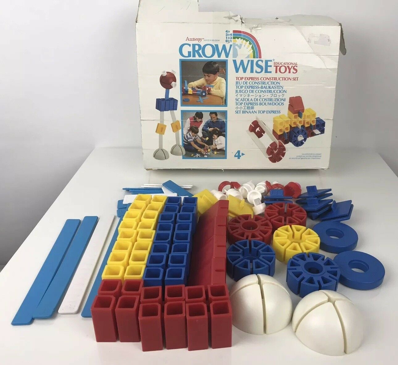 Vintage 1987 1987 1987 away grow wise 68 pc top express construction set missing 9 pieces 14c73e