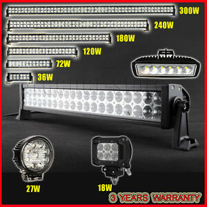 18W-300W-CREE-LED-Work-Light-Bar-Offroad-Driving-Lamp-Combo-SUV-Car-Boat-4WD-ATV