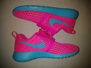 Details about Nike Roshe One Flight Weight Kids GS Pink Blue 705486 602 Size 6.5 Y