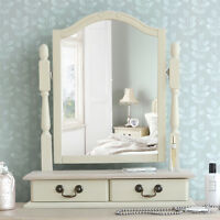 Juliette Shabby Chic Champagne Trinket Mirror,adjustable Dressing Table Mirror
