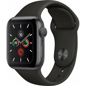 Apple-Watch-Series-5-40mm-Alu-32GB-GPS-MWV82LL-A-Sportarmband-spacegrey