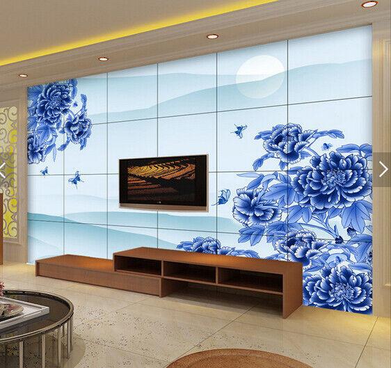 3D bluee Flowers 781 Wallpaper Mural Paper Wall Print Wallpaper Murals UK Carly