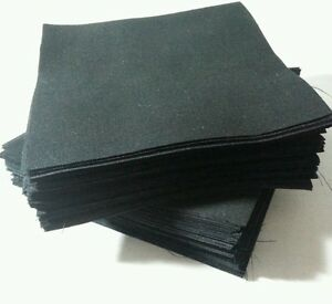 "BLACK solid fabric 3/"" squares Lot of 320pcs quilt blocks cotton charm pack"