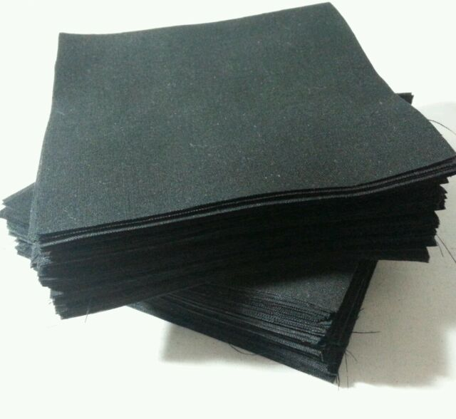 "Lot of 300pcs quilt blocks, cotton charm pack, 2"" squares, BLACK solid fabric"