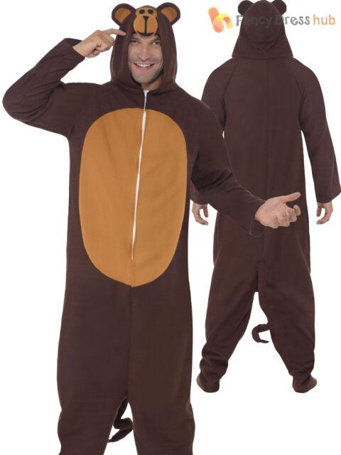 02cfd984d5 Adults Monkey Costume Zoo Animal Onesie Bodysuit Chimp Ape Fancy ...
