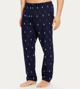 NWT-POLO-RALPH-LAUREN-MENS-MULTICOLOR-NAVY-Allover-Pony-little-pajama-Pants