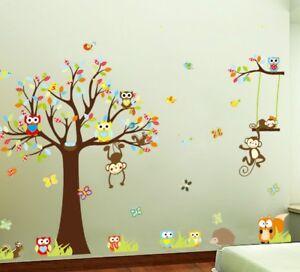 Das Bild Wird Geladen Wandtattoo Wandsticker Kinderzimmer XXL Deko  Tiere Kinder Wald