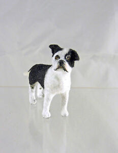 Closeout! Dollhouse Miniature Alice Zinn Boston Terrier Dog