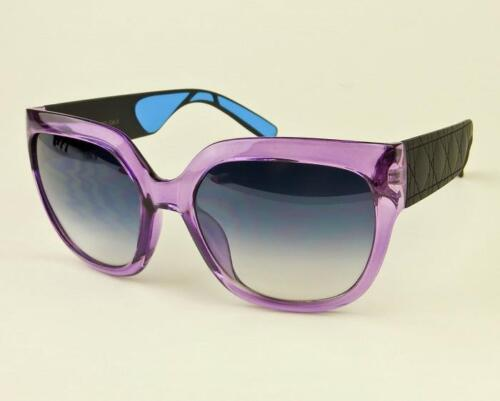 RARE Large My Lady Cat Eye Quilted Design Satin Matte Arms Big Sunglasses 36292