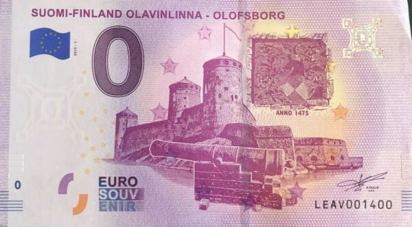 Amical Billet 0 Euro Suomi Finland Olavinlinna Olofsborg 2019-1 Numero 1400 Fabrication Habile