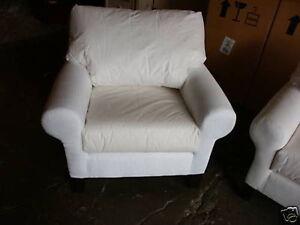 Pottery Barn Pb Basic Sofa Grand Arm Chair Accent No