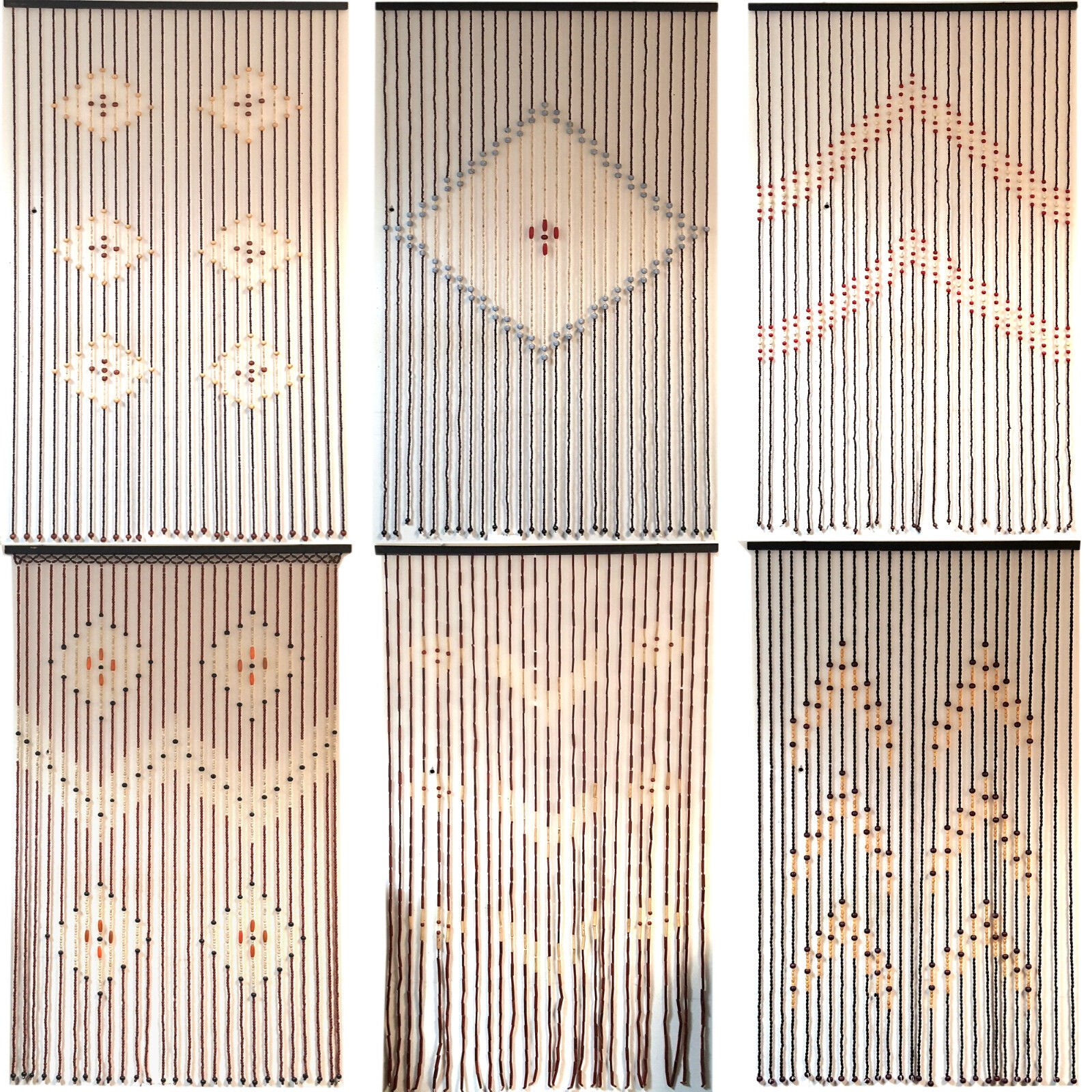 Bamboo bead door curtain - Top Quality Bamboo Beaded Door Curtains Blinds Fly Insects Door Curtain Wooden Ebay