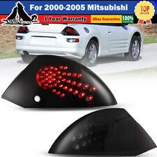 Fits 00 05 Mitsubishi Eclipse Led Brake Tail Lights Black Smoke Lens Set Pair Fits 2002 Mitsubishi Eclipse
