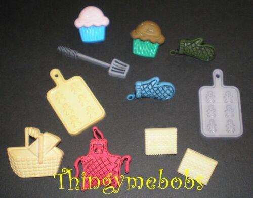 11 Cocina//Horno//Cocina//Magdalena temática Craft Botones-cardmaking//coser