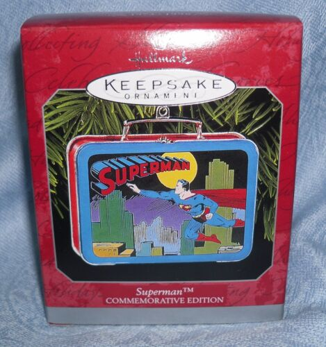1998 Hallmark Keepsake Ornament Superman Lunchbox Commemorative Edition