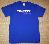 Tracker Boats Lg Blue T-shirt With Free Sticker Bass Boat Fish You Get 2 Decal