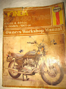 honda 1965 and later all 450 500 haynes twins owner workshop repair rh ebay com Honda CB500 2018 Honda CB450