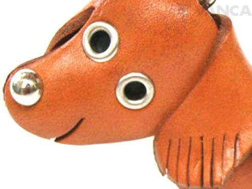 Dachshund Handmade 3D Leather Dog//Animal Bag Charm *VANCA* Made in Japan #26008