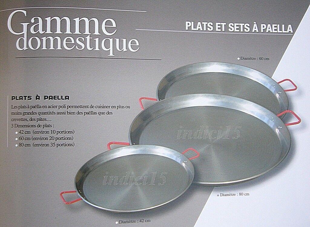 Piatto Tegame Plats per Paella Ø 60 cm. Acciaio Lucido Originale Spagna by REBER