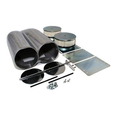 Black Aluminum Shotgun Double Barrel Intake Hood Scoop Smooth Dual Carb Setup